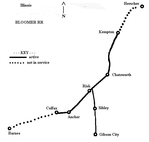 Bloomer RR map
