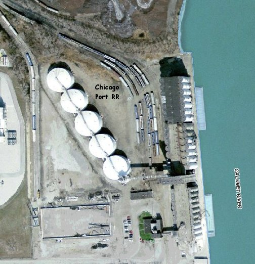 Aerial Photo of Chicago Port RR