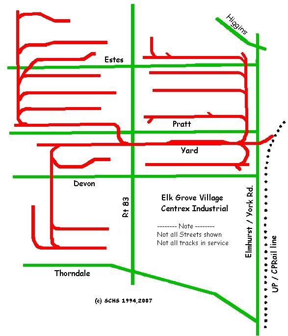Elk Grove Village map