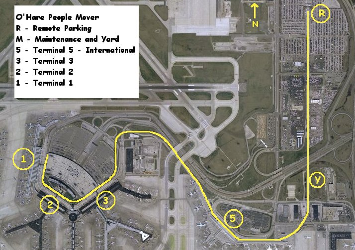 Ohare people mover main map